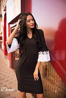 Приталенное женское платье с широким рукавом w-t140383