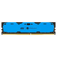 Модуль памяти DDR4 8GB / 2400 GOODRAM Iridium Blue (IR-B2400D464L15S / 8G)