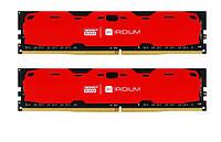 Модуль памяти DDR4 8GB / 2400 GOODRAM Iridium Red (IR-R2400D464L15S / 8G)