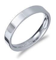 Гладкое кольцо Stainless Steel в серебряном цвете