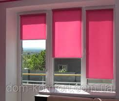 Ролеты тканевые открытого типа разные цвета