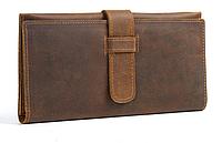 Мужской кожаный винтажный клатч Baoresen