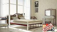 Кровать металлическая кованная Анжелика на деревянных ножках полуторная, фото 1