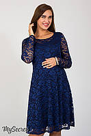 Гипюровое платье для беременных Deisy, синее*