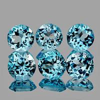 Натуральный топаз голубой 5 мм