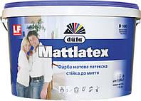 Фарба Дюфа Mattlatex D100 латексна інтерєрна матова біла, 2,5 л