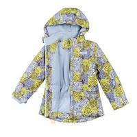Куртка для девочек на флисе  «одуванчики» BabyLine V 107-16