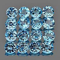 Натуральный топаз голубой 4 мм
