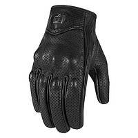 Мотоперчатки ICON Pursuit Touch кожа перф. черный L