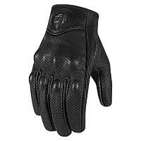 Мотоперчатки женские ICON Pursuit Touch перф. кожа черный S