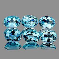 Натуральный топаз голубой 8x6mm
