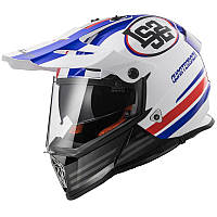 LS2 MX436 PIONEER QUARTERBACK, WHITE RED BLUE, M