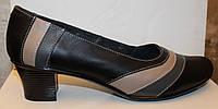 Туфли женские большого размера кожаные, женские туфли 38-44 от производителя модель ВБ8м