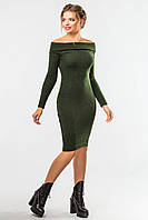 Платье-хомут зеленого цвета