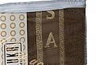 Чоловічий махровий комплект для сауни коричневий, з тапочками, Туреччина