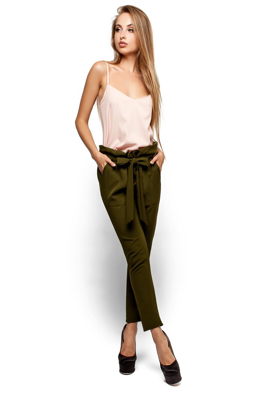 Стильні жіночі оливкові брюки Blik