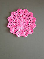 Подстаканник вязаный розовый