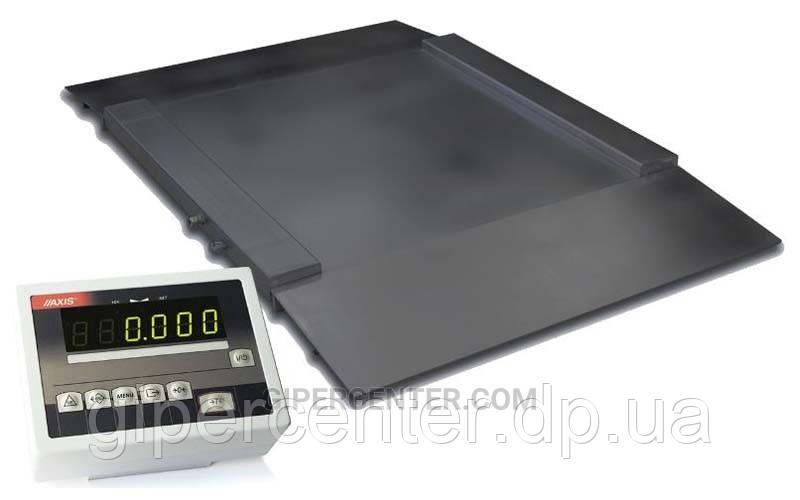 Наездные платформенные весы 1250х1250 мм 4BDU2000H ПРАКТИЧНЫЕ до 2000 кг