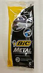 Bic Metal одноразовый бритвенный станок с одним лезвием 5 шт.