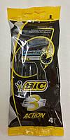 Bic 3 Action одноразовый станок с тройным лезвием и увлажняющей полосой 4 шт.