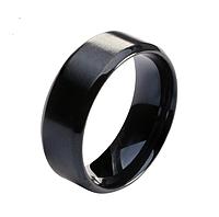 Кольцо Stainless Steel в чёрном цвете