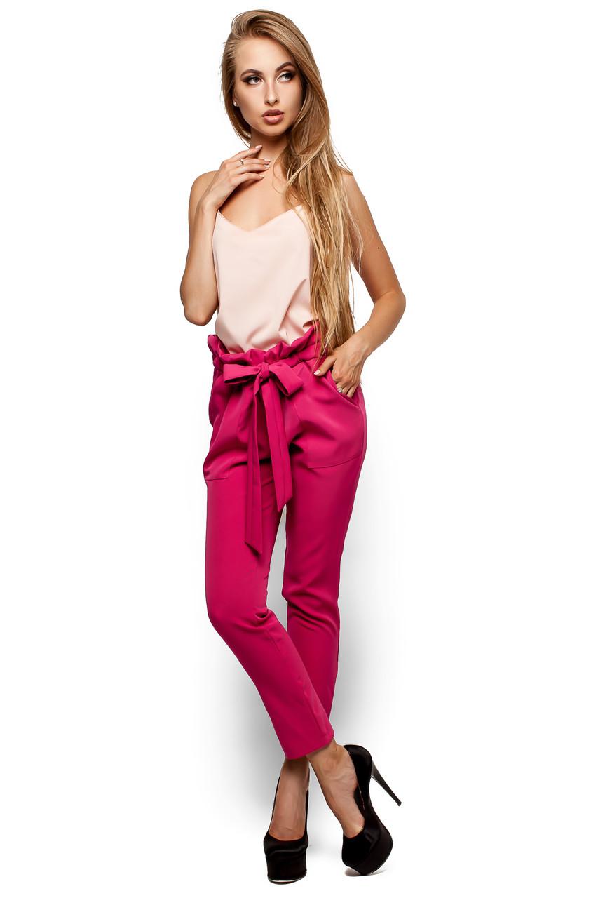 Стильні жіночі малиновий брюки Blik