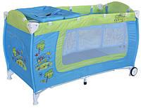 Кровать-манеж Bertoni Danny 2 layers blue&green car (10080361714)