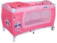 Кровать-манеж Bertoni Danny 2 layers pink Kitty (10080361723)