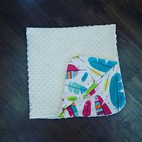 Плед в кроватку или коляску 90×90 (летний)