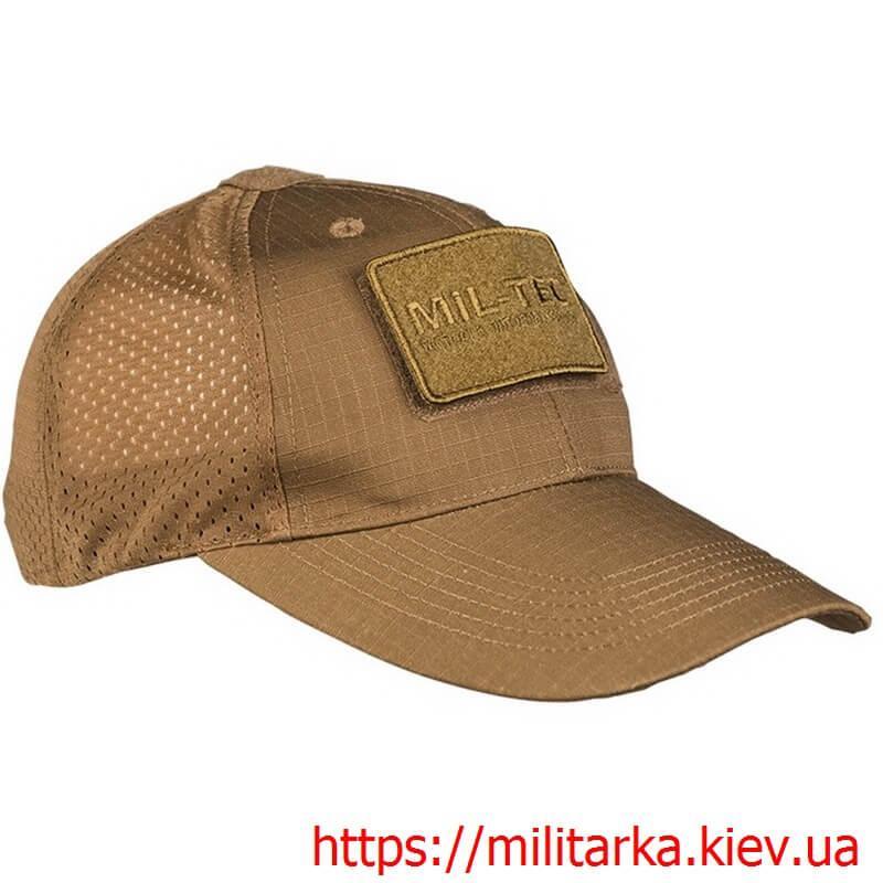Кепка тактическая Mil-Tec рип-стоп сетка coyote