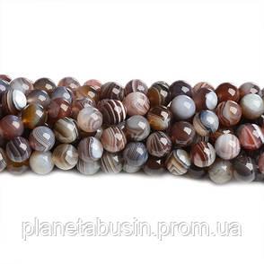 8 мм Агат Ботсвана АА, CN304, Натуральный камень, Форма: Шар, Отверстие: 1мм, кол-во: 47-48 шт/нить, фото 2