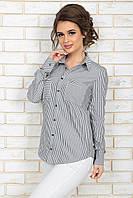 Рубашка Элиз серая полоска
