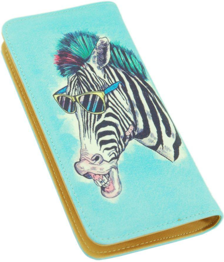 Интересный кошелек для женщин из кожзаменителя Traum 7201-63, голубой