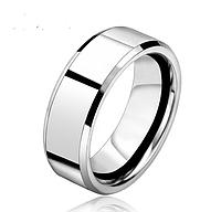 Кольцо Stainless Steel глянцевое в серебряном цвете