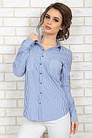Рубашка Элиз голубая полоска