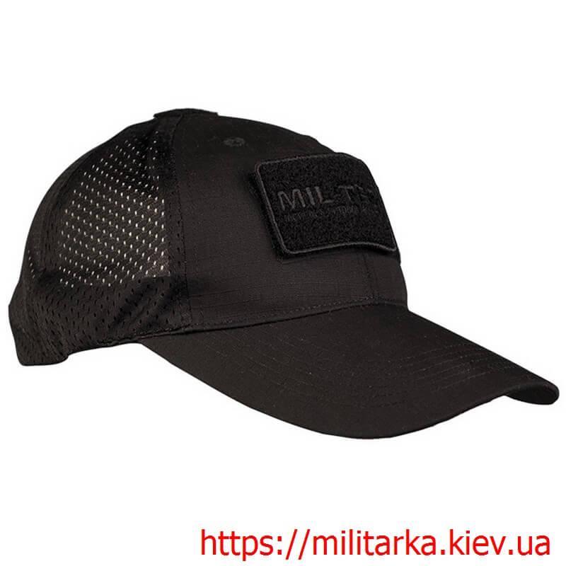 Кепка тактическая Mil-Tec рип-стоп сетка черная