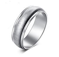 Кольцо Stainless Steel в серебряном цвете с потёртостью