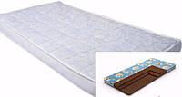 Кокосовый трехслойный матрас в детскую кроватку Эконом