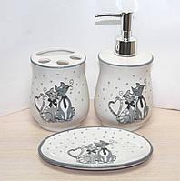 """Набор для ванной комнаты """"Веселые коты"""" Lefard 940-021"""