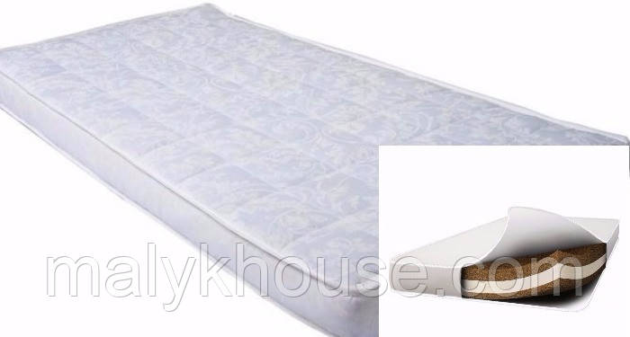 Матрац в ліжечко для новонародженого Люкс (кокос-поролон-кокос)