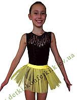 Детская юбка пачка желтая