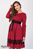 Удобное платье для беременных и кормящих Medina, красный меланж*