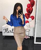 Женская блуза рубашка шелк Армани