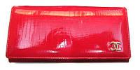 Кошелек женский Chanel красный натуральная кожа