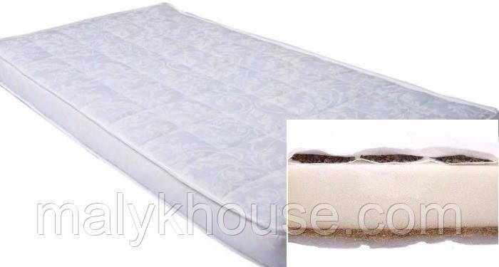 Матрас в детскую кроватку Кокос-Поролон-Гречка 10 см