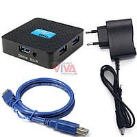 USB 3.0 хаб 5ГБит с дополнительным питанием V-Hub 4p5g