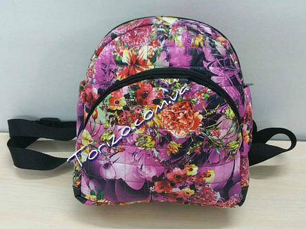 Рюкзак женский стеганный молодежный, фото 2