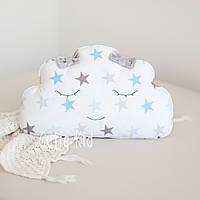 """Декоративная подушка """"Облако, голубая звездочка"""""""