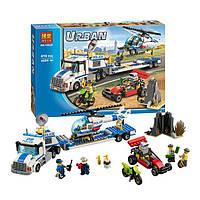 """Конструктор Bela 10422 (аналог Lego City 60049) """"Перевозчик вертолёта"""", 410 дет"""
