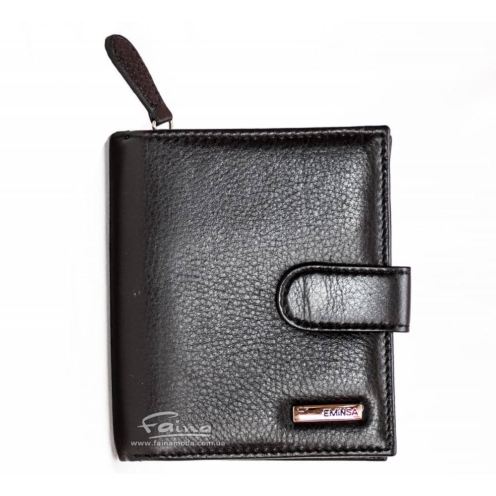 Мужское портмоне кожаное черное Eminsa 2031-12-1